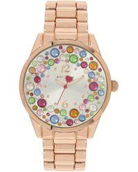 Betsey Johnson Women's Stony Bracelet Watch, 40mm - Multicolour