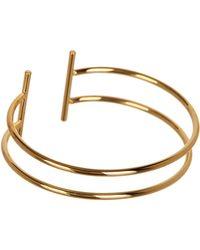 Panacea - Gold Bar Cuff - Lyst