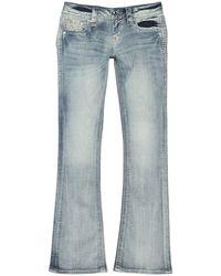Rock Revival Rhinestone Embellished Fade Bootcut Jeans - Blue