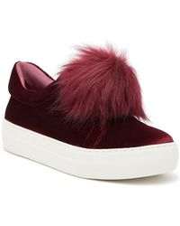 the latest 5c8e4 b75f0 J Slides - Aurora Faux Fur Velvet Platform Sneaker - Lyst