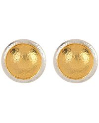 Gurhan 24k Gold Plated Sterling Silver Amulet Stud Earrings - Metallic