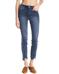 Tractr | Raw Edge Skinny Jeans | Lyst