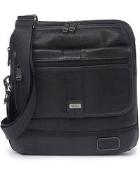 Tumi East Ridge Leather Zip Flap Crossbody Bag - Black