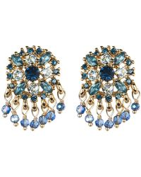 Marchesa - Shakey Button Crystal Earrings - Lyst