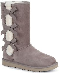 UGG - Victoria Tall Genuine Dyed Shearling Trim & Faux Fur Boot - Lyst