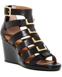 Calvin Klein - Brilla Cow Silk Wedge Sandal - Lyst