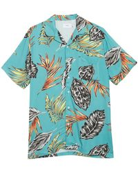 Onia Vacation Short Sleeve Hawaiian Shirt - Blue