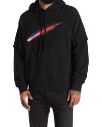 Ovadia And Sons Comet Graphic Print Hoodie - Black