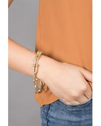 Saachi Hooked Link Bracelet - Metallic