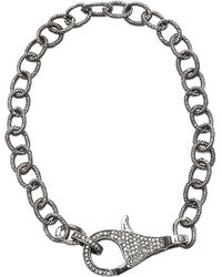 Adornia Sterling Silver Pave Champagne Diamond Link Bracelet - 0.80 Ctw - Metallic