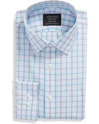 Nordstrom Smartcaretm Traditional Fit Check Dress Shirt - Blue