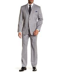 Perry Ellis - Two Button Notch Label Trim Fit Suit - Lyst