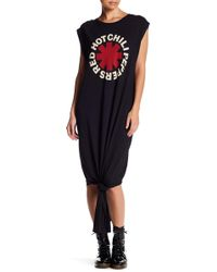 ELEVEN PARIS Red Hot Chili Peppers Muscle T-shirt Dress - Black