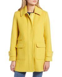 1901 Button Front Coat (regular & Petite) - Yellow