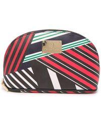 Trina Turk - Striped Medium Dome Cosmetic Case - Lyst
