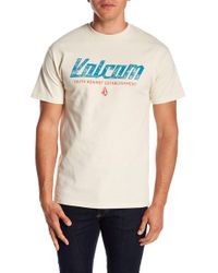 Volcom - Gilford Graphic Print Crew Neck Tee - Lyst