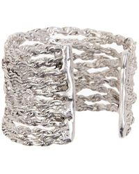 Karine Sultan Miller Multi Layer Cuff Bracelet - Metallic