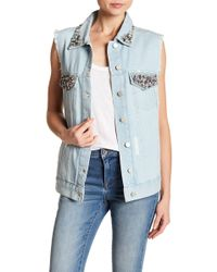 French Connection - Essien Denim Vest - Lyst