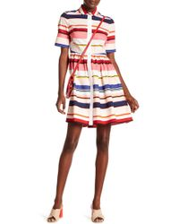 Kate Spade - Berber Striped Shirtdress - Lyst