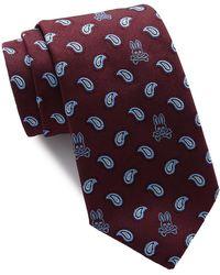Psycho Bunny Silk Pine Tie - Purple