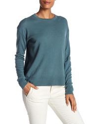 Vince - Cashmere Boxy Long Sleeve Hi-lo Pullover Sweater - Lyst