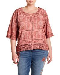Democracy - Crochet Lace Scalloped Blouse (plus Size) - Lyst