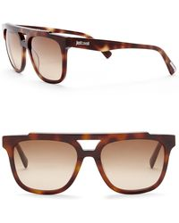 Just Cavalli - Square Aviator 56mm Plastic Sunglasses - Lyst