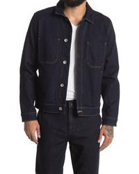 7 For All Mankind Modern Denim Trucker Jacket - Blue