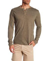 Vintage 1946 - Yarn Dyed Stripe Henley Shirt - Lyst