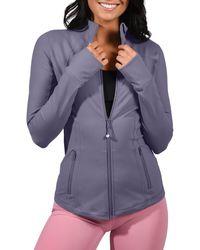 90 Degrees Full Zip Long Sleeve Jacket - Blue