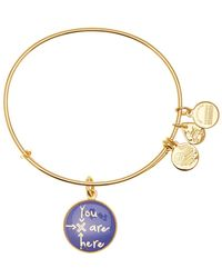 ALEX AND ANI - You Are Here Words Are Powerful Expandable Wire Charm Bracelet - Lyst