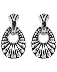 Lagos Silver Drop Earrings - Metallic