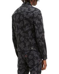 Levi's The Trucker Jacket Paisley Adiel Magnet Rinse - Black