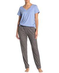 Hue Pop Xo Jogger Pajama Pants - Gray