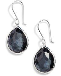 Ippolita Sterling Silver Wonderland Mini Teardrop Earrings - Metallic