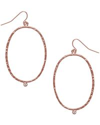 Karine Sultan - Milaine Crystal Oval Drop Earrings - Lyst