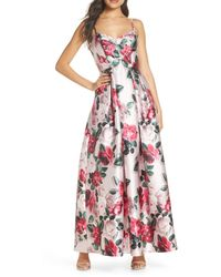 Eliza J Sweetheart Fit And Flare Gown - Pink