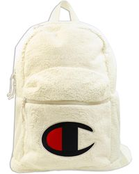Champion Supercize Faux Shearling Backpack - Natural
