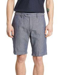 Ted Baker Spainn Slim Fit Shorts - Blue
