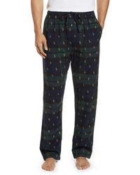 Polo Ralph Lauren Logo Flannel Pyjama Pants - Multicolour