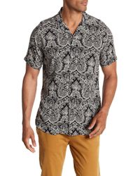Slate & Stone - Modern Fit Woven Short Sleeve Button Down Shirt - Lyst