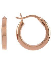 Argento Vivo 18k Rose Gold Plated Sterling Silver Hoop Earrings - Metallic