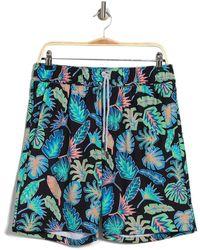 Sovereign Code Disruptor Patterned Swim Shorts - Blue