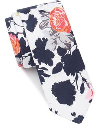Original Penguin Dohrn Floral Tie - White