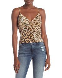 FRAME Leopard Print Silk Camisole - Multicolor
