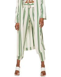 TOPSHOP - Stripe Tapered Trousers - Lyst