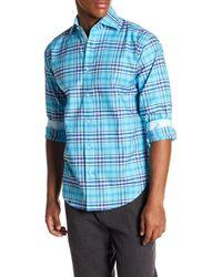 Thomas Dean - Plaid Regular Fit Woven Shirt - Lyst