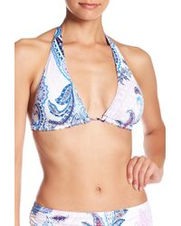 Tommy Bahama Paisley Reversible Halter Top - White