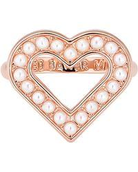 Ted Baker Esztel Faux Pearl Enchanted Heart Ring - Size S-m - Metallic