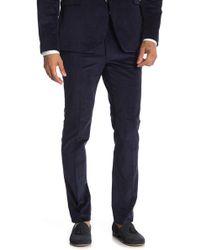 Original Penguin - Navy Corduroy Suit Trousers - Lyst